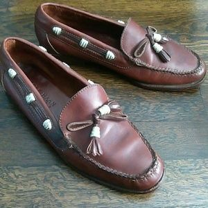 Cole Haan Country brown tassel leather loafers
